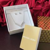 Michael Kors Jewelry   Michael Kors Stainless Steel Necklace Earrings   Color: Silver   Size: Os