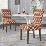 Red Barrel Studio® Upholstered High Back Dining Chairs w/ Wood Legs Armless Side Chairs For Kitchen Living Room Lounge Furniture Set Of 2   Wayfair
