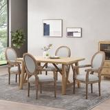 Ophelia & Co. Bridger Wood & Fabric Dining Chair Set Of 4 in Gray/Brown, Size 40.5 H x 24.5 W x 26.0 D in   Wayfair