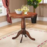 """Alcott Hill® 32"""" Round Pedestal Dining Table Wood in Brown/Green, Size 30.0 H x 32.0 W x 32.0 D in 