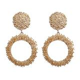 Drop Earrings for Women Women's Jewelry Round Vintage for Women Gold Big Statement Earings Fashion Jewelry Rock Popular Modern Jewellery Funny Birthday Gift Holiday Gift