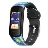 V101 Fitness Tracker 0.96''HD Smart Watch with Heart Rate, Body Temperature, BP Monitor, IP68 Waterproof, Step Counter, Calorie Counter, 0.96''HD for Android and iOS (Starry Night(Vincent Van Gogh))