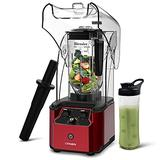 CRANDDI Quiet Shield Blender, Countertop Blender, High-Speed Blender for Shakes and Smoothies with 2200W Base, 80oz BPA-free Jar for Family / Commercial Size, Built-in Pulse & 15-speeds Control, K90-R