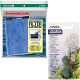Marineland Eclipse Rite-Size Z Filter Cartridge, 3 count & Marina Floating Thermometer with Suction Cup for Aquariums