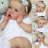 Realistic Reborn Baby Dolls, Reborn Baby Dolls 22 inch Girl, Poseable Fashion Doll, Full Silicone Doll for Baby Kids
