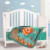Honkaii Jungle Crib Bedding Sets for Neutral 3 Pcs, Baby Boy Bedding Crib Set Including Crib Quilt/Crib Skirt/Crib Sheet, Crib Sets for Girls&Boys