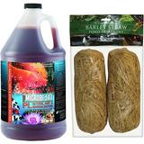 Microbe-Lift PL Pond & Lagoon Bacteria Water Treatment, 1-gal & Summit Clear-Water Barley Straw Pond Treatment, 1 count