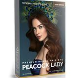Peacock Lady 100% Pure & Natural Henna Hair Color, Brown Hair Dye, Dark Brown Hair Dye, Henna Powder, Natural Hair Dye, Henna Hair Dye, PPD Free Hair Dye, Chemical Free Hair Color, Vegan - 135g