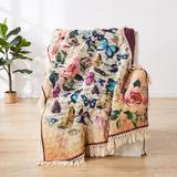 "Gigi Ecru Throw Blanket by Barefoot Bungalow in Brown (Size 50"" X 60"")"