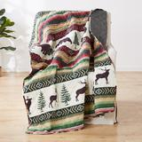 """Yosemite Campfire Throw Blanket by Barefoot Bungalow in Red (Size 50"""" X 60"""")"""