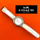 Coach Accessories | Coach Watch | Color: Silver/White | Size: Face Is 1.5 Across