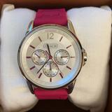 Coach Accessories | Coach Chronograph Classic Signature Sport | Color: Pink/Silver | Size: Os