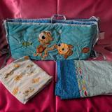 Disney Other | Finding Nemo Crib Set | Color: Blue/Orange | Size: Osbb