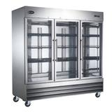 SABA 81 In. W 72 Cu. Ft. Freezerless Commercial Refrigerator In Stainless Steel in Gray/White, Size 82.5 H x 81.0 W x 32.25 D in   Wayfair S-72RGG