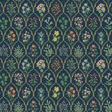 Rifle Paper Co. Freshly Picked Wallpaper Navy - Ballard Designs