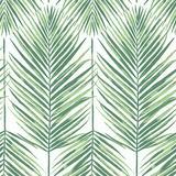 Oasis Palm Wallpaper Midnight - Ballard Designs