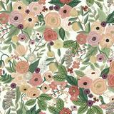Rifle Paper Co. Floral Pop Wallpaper Burgundy - Ballard Designs
