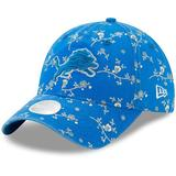Women's New Era Blue Detroit Lions Blossom 9TWENTY Adjustable Hat