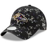Women's New Era Black Baltimore Ravens Blossom 9TWENTY Adjustable Hat