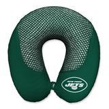 New York Jets Cooling Gel Plush Memory Foam Travel Pillow - Green