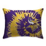 Minnesota Vikings Tie Dye Plush Bed Pillow - Purple