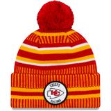 Men's New Era Red/Yellow Kansas City Chiefs 2019 NFL Sideline Home Official Sport Knit Hat