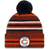 Men's New Era Navy/Orange Chicago Bears 2019 NFL Sideline Home Official Logo Sport Knit Hat