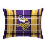 Minnesota Vikings Plaid Plush Sherpa Bed Pillow - Purple