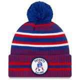 Men's New Era Royal/Red England Patriots 2019 NFL Sideline Home Official Historic Logo Sport Knit Hat