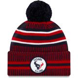 Men's New Era Navy/Red Houston Texans 2019 NFL Sideline Home Official Sport Knit Hat