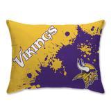 Minnesota Vikings Splatter Plush Bed Pillow - Purple