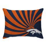 Denver Broncos Super Plush Mink Wave Bed Pillow - Blue