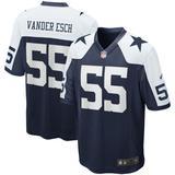 Men's Nike Leighton Vander Esch Navy Dallas Cowboys Alternate Game Team Jersey