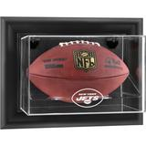 New York Jets Black Framed Wall-Mountable Football Logo Display Case