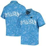 Men's Tommy Bahama Blue Carolina Panthers Pina Plazzo Silk Camp Shirt