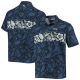 Men's Tommy Bahama Navy New England Patriots Pina Plazzo Silk Camp Shirt