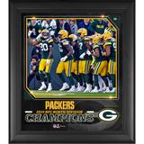 """Green Bay Packers Fanatics Authentic Framed 15"""" x 17"""" 2019 NFC North Division Champions Collage"""
