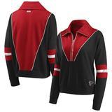 Women's WEAR By Erin Andrews Black Atlanta Falcons Half-Zip Jacket