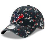 Women's New Era Navy Houston Texans Blossom 9TWENTY Adjustable Hat
