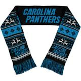 FOCO Carolina Panthers Reversible Ugly Scarf