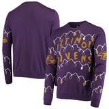 Men's FOCO Purple Baltimore Ravens Light-Up Ugly Sweater