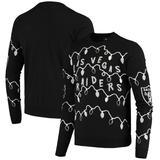 Men's FOCO Black Las Vegas Raiders Light-Up Ugly Sweater