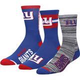 Men's For Bare Feet New York Giants Stimulus 3-Pack Crew Socks Set