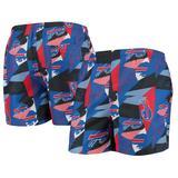 Men's FOCO Royal/Red Buffalo Bills Geo Print Swim Trunks