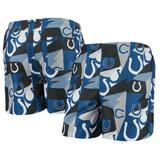 Men's FOCO Royal/White Indianapolis Colts Geo Print Swim Trunks