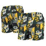 Men's FOCO Green/Gold Green Bay Packers Geo Print Swim Trunks