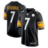 Men's Nike Ben Roethlisberger Black Pittsburgh Steelers Game Team Jersey