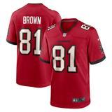 Men's Nike Antonio Brown Red Tampa Bay Buccaneers Game Jersey