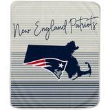 New England Patriots 60'' x 70'' Ultra Fleece State Stripe Plush Blanket