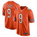 Men's Nike Nick Foles Orange Chicago Bears Game Jersey